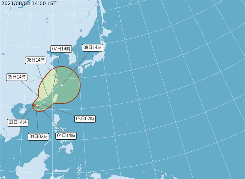 氣象專家賈新興透露3種可能的颱風路徑,預計周四起影響台灣。(圖/氣象局)