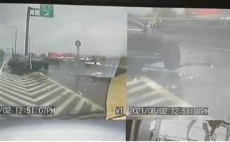 暴雨狂炸屏東台88賓士女自撞亡 家人哭喊:去找朋友人就沒了