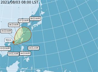 廣東沿海熱帶性低氣壓生成 第9號颱風「盧碧」預計今明成颱
