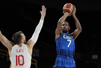 東奧》擋不住杜蘭特!美國男籃力挫西班牙勇闖4強
