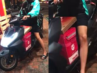 將比薩盒頂在胯下騎車 外送員挨轟:沒點雞佛口味別加料