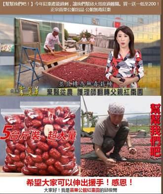 苗栗縣警局刑大宣導民眾防範假藉紅棗農損詐騙一頁式廣告