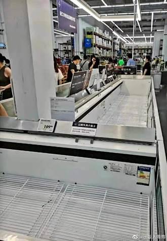 武漢再現本土病例 市民買光超市物資 貨架空空如也