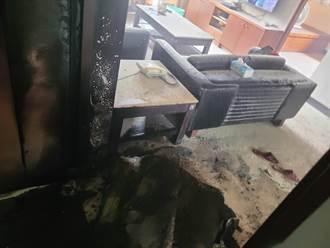 台南7旬男跟兒爭財產 縱火燒傷妻兒媳