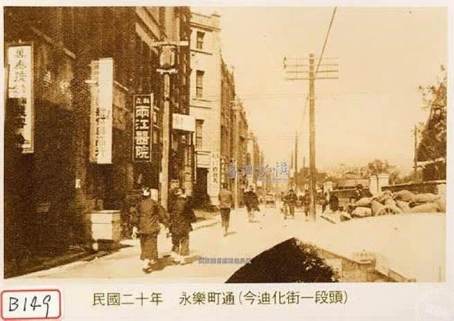 民眾二十年永樂町通_金迪化街一段頭(圖:國家圖書館 臺灣記憶)