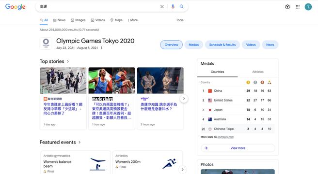 藉由新科技,民眾可無縫更新奧運最新消息。(圖片來源:Google)
