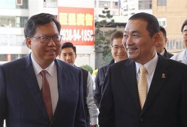 桃園市長鄭文燦(左)、新北市長侯友宜(右)。(圖/本報資料照)