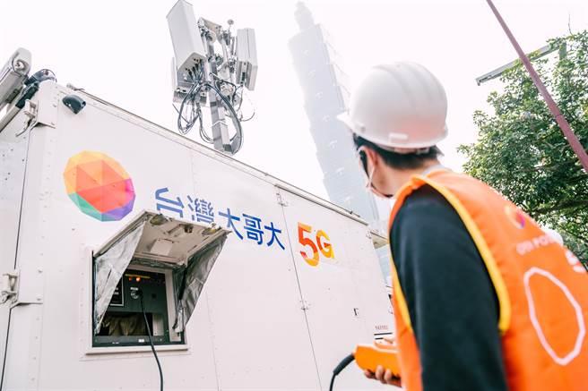 台灣大哥大與聯發科、諾基亞三方合作,成功在5G獨立組網(SA)的實際網路環境下進行5G載波聚合(NR CA)的連線測試。(台灣大提供)