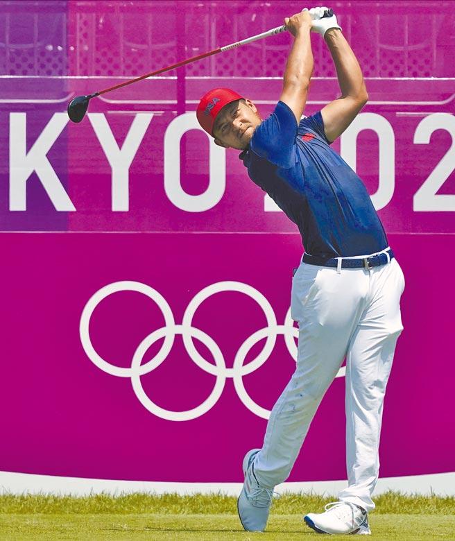 美國高球好手蕭佛利1日在東奧男子高球賽奪金,自曝「我也是台灣人!」(美聯社)