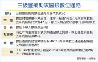 疫軍突起 國銀數位財管業務激增