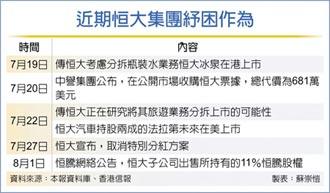 恒大釋股恒騰 求現32.5億港元