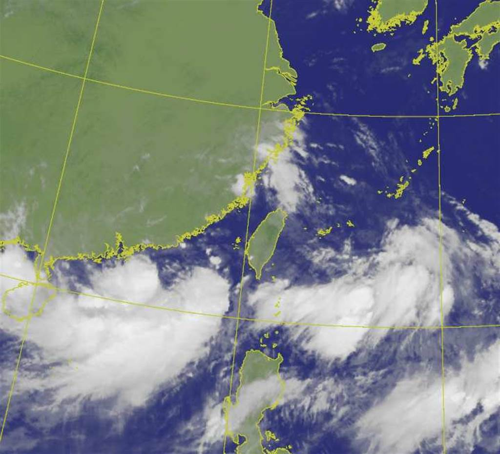 盧碧颱風生成,專家揭3路徑,其中一條可能直侵台灣。(翻攝自氣象局)