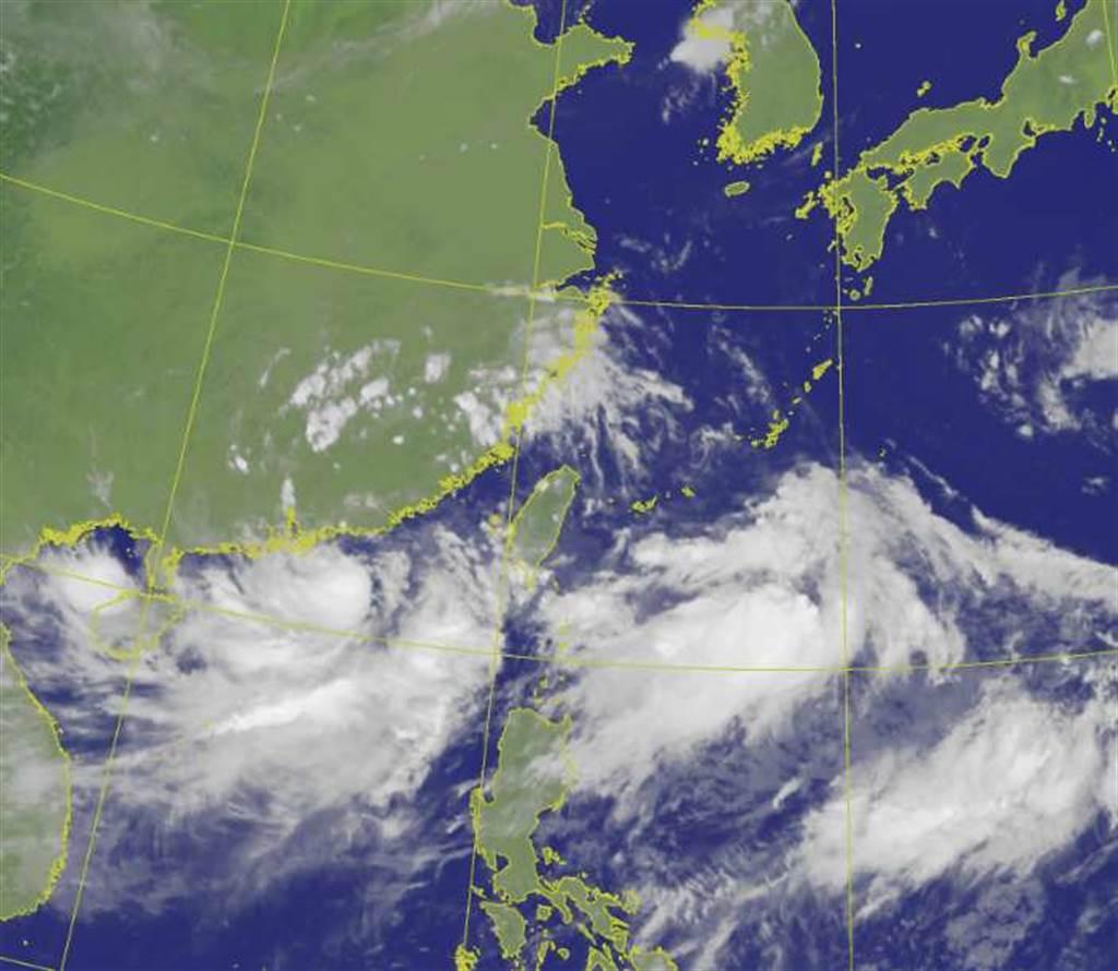 盧碧颱風下午2點半發海警。(翻攝自氣象局)