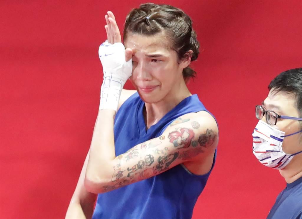 黃筱雯在東京奧運拳擊女子51公斤級4強賽落敗,未能晉級金牌戰。(季志翔攝)