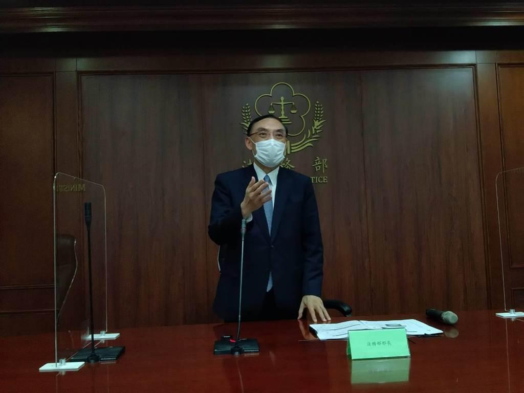 法務部長蔡清祥。(陳志賢攝)