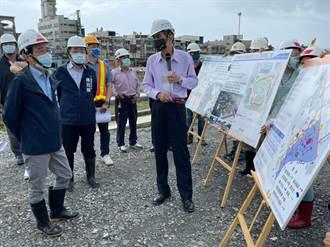 林欽榮視察第81期重劃區 2滯洪池公園有望明年9月完工