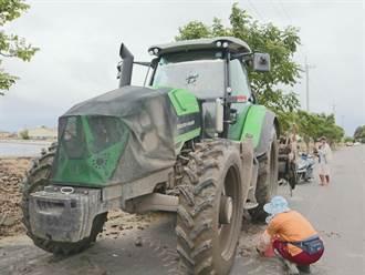 農用曳引機成救災新利器 業者估算涉水高度至少可達100公分