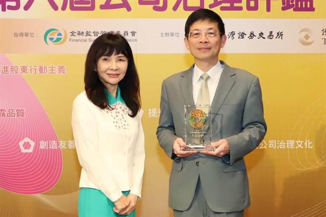 玉山銀董事長黃男州(右)、玉山金總經理陳美滿(左)。(資料照)