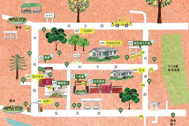 跟著導覽地圖重溫昔日眷村風光。 圖:臺灣花園城市發展協會/提供