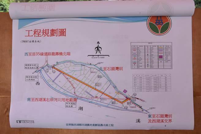 四湖農地重畫以後,將從農地中央新建新的農水路。(謝明俊攝)