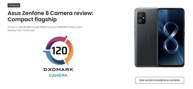 華碩ZenFone 8的DxOMark主相機評測出爐。(摘自DxOMark官網)