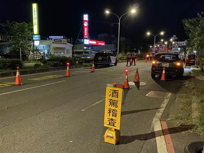 疫情三級警戒期間,台東縣酒駕件數減5成以上,在降級後有少許回升現象。(台東縣警局提供/蔡旻妤台東傳真)