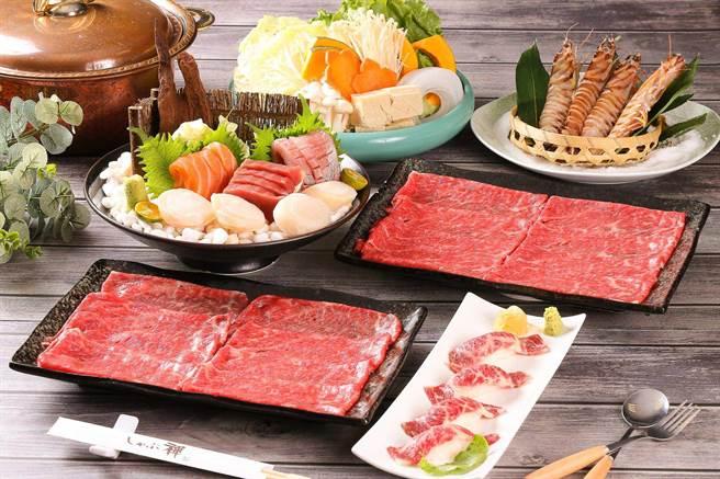 大葉髙島屋的大河屋推出88節精選三人套餐,原價2232元,特價1488元。(大葉髙島屋提供)
