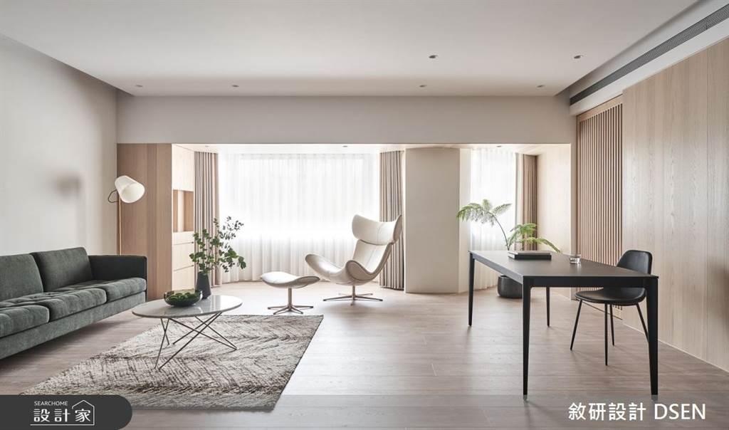 木質調居家不是無印風專利!木地板、木紋磚、木作貼皮與油漆塗料不同佔比的居家裝潢建議。(圖/設計家)