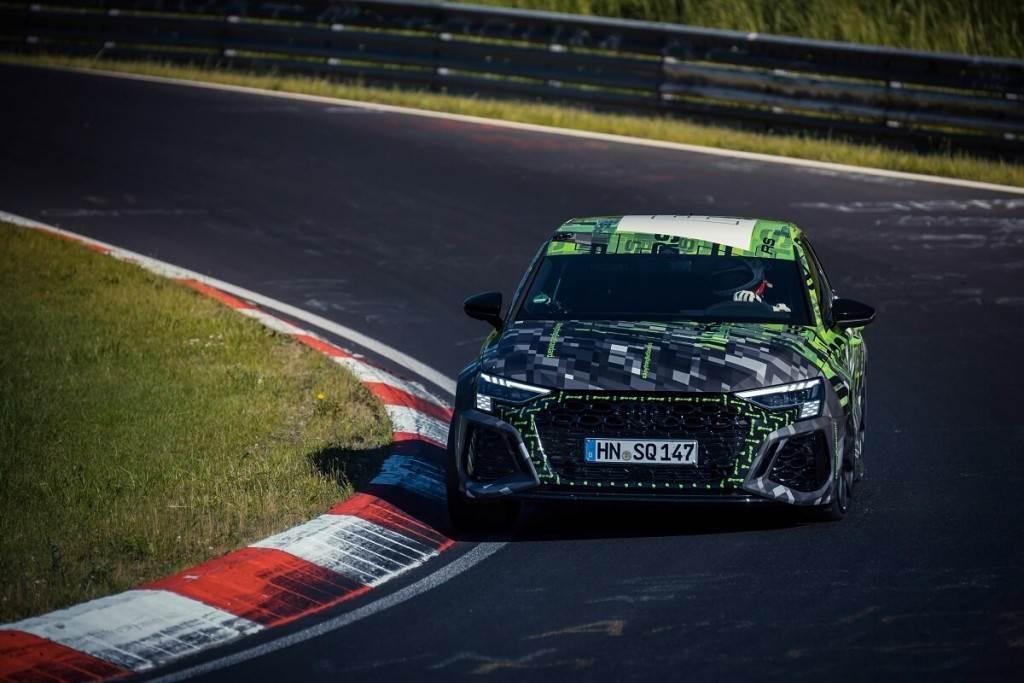 最速小型車換人當!Audi RS 3打破紐柏林北賽道紀錄(圖/CarStuff)