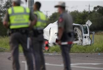 德州廂型車翻覆10死20傷 疑超載非法移民