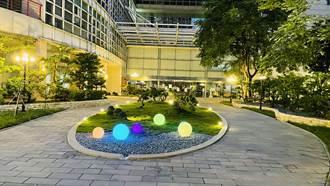 中市地稅局前庭整修啟用 營造親民友善休憩空間