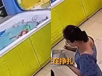陸4歲童泳圈倒栽狂掙扎 媽一旁嗑便當爽聊沒察覺溺斃