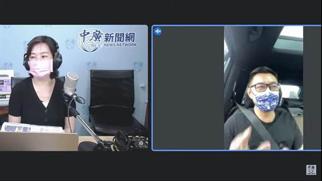 江啟臣上午接受《千秋萬世》廣播專訪。(摘自千秋萬世直播畫面)