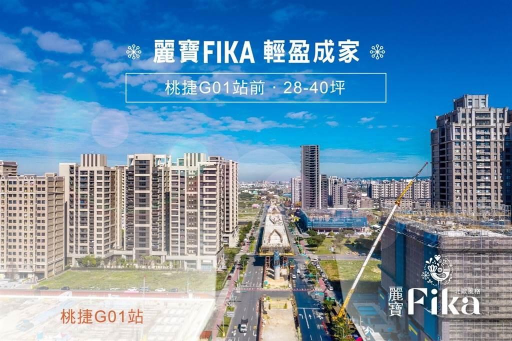 麗寶建設於桃園八德擴建重劃區推出新建案「麗寶FIKA」。(圖/業者提供)