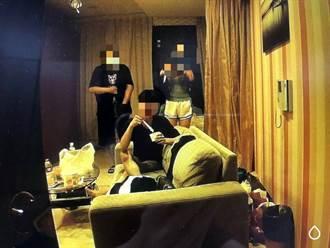防堵旅館群聚開趴染疫 3男女85大樓民宿開毒趴遭逮