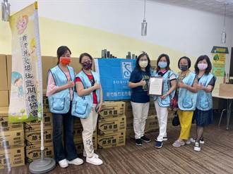 竹北國際蘭馨協會相挺弱勢兒 捐綠光種子生活物資
