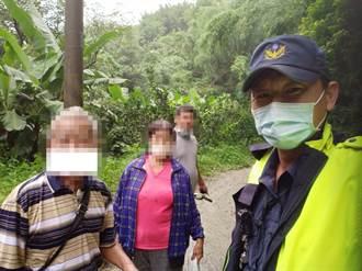 老夫妻上山養雞失蹤 新營警冒雨徒步進坍方產業道路搜救