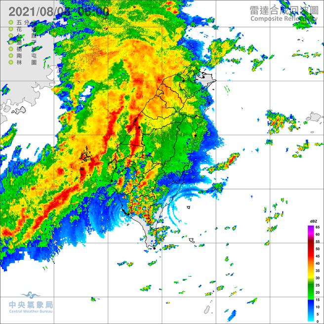 氣象局對台中以南10縣市發布豪、大雨特報。(氣象局)
