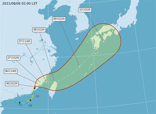盧碧目前路徑稍微南修,對台灣影響加大,不排除海陸警齊發。