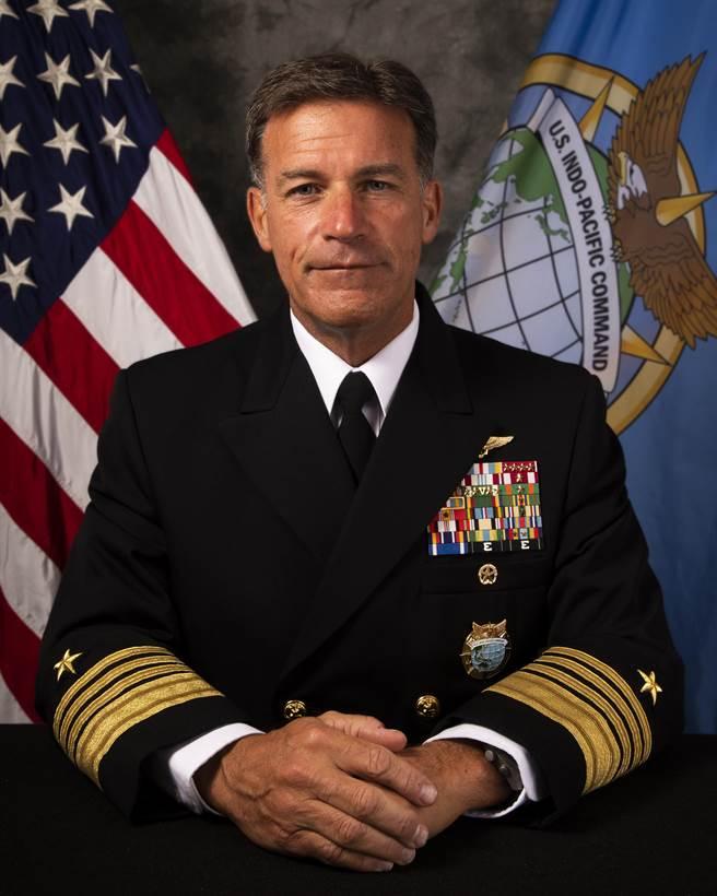 美國印太司令部司令阿奎利諾(John C. Aquilino)。(取自美國印太司令部)