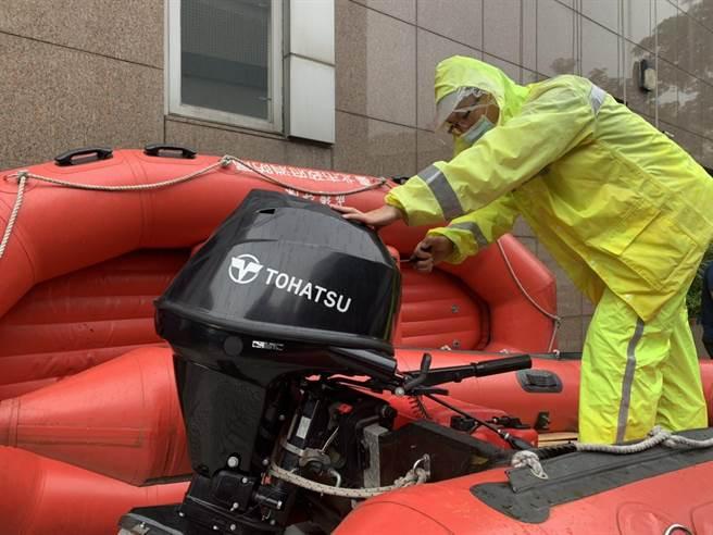 北市消防局已做好防災整備工作。(翻攝照片/林郁平台北傳真)