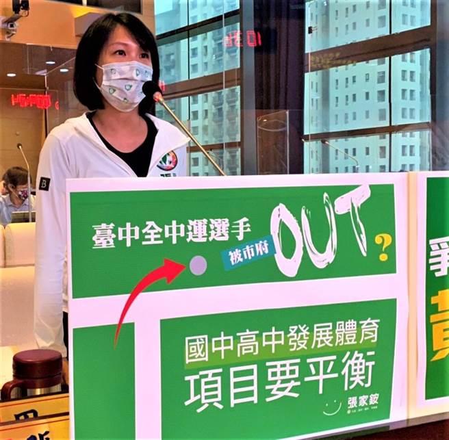 台中市議員張家銨6日抨擊,已有3名自由車選手北漂、南漂,變成台中選手代表外縣市回來自己人打自己人。(盧金足攝)