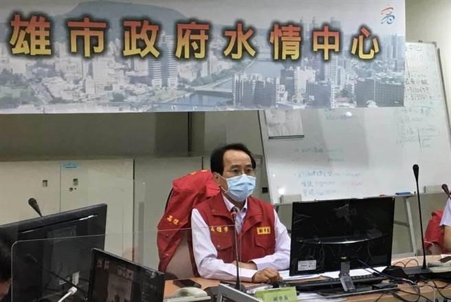 盧碧颱風甩尾降雨增強,高雄災害應變中心提升二級開設。(高雄市政府水利局提供/林雅惠傳真)