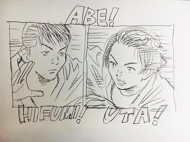 曾二度獲手塚治虫文化獎的日本漫畫大師浦澤直樹繪圖祝賀日本阿部兄妹檔雙雙奪奧運柔道金牌,意外也讓漫迷回憶起他早年經典作《以柔克剛》。(摘自推特)