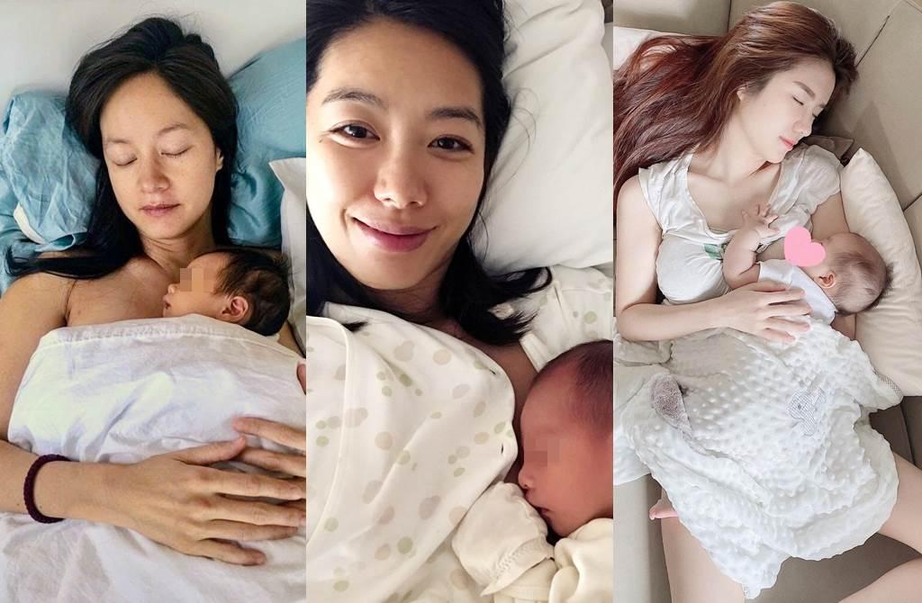 不少女星或網紅都分享過餵母乳照片,左起為Janet、林可彤、Cherry Quahst。(圖/翻攝自Janet Hsieh 謝怡芬、林可彤 Hope Lin臉書;翻攝自cherry_quahst IG)