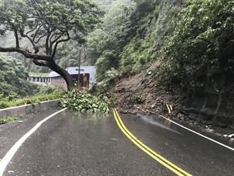 大雨猛降南投仁愛 台14線往清境農場土石崩落 全線一度中斷