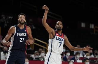 東奧》杜蘭特狂轟29分 美國男籃險退法國摘奧運4連霸