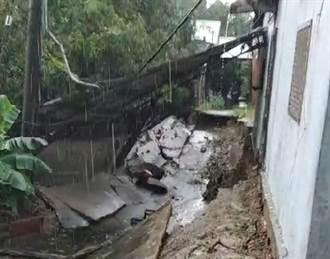 豪雨轟炸八卦山 3戶民宅路基被掏空 9人遭撤離