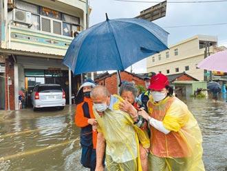雲林沿海暴雨 大排溢堤 淹水又來