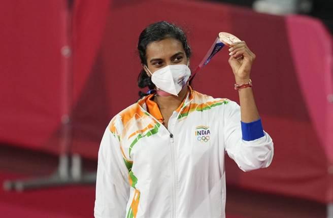 印度羽球女將辛度在奧運累積1銀1銅,被視為該國最偉大的運動員之一。(美聯社資料照)
